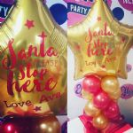 Xmas Eve Personalised Balloon Decor